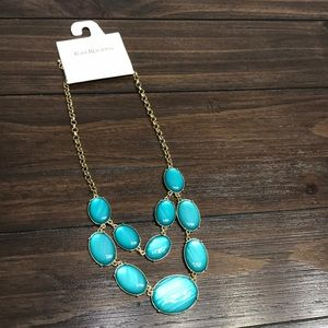 ✨NWT✨Gold & Turquoise Gemstone Necklace ✨